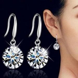 Szidónia akasztós gyémánt hatású fülbevaló