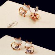 Tamira cicás fülbevaló arany fazonban