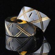 Tercia nemesacél fülbevaló arany-ezüst fazonban