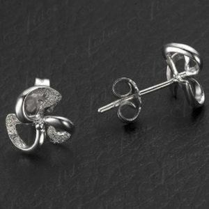 Szimóna ezüst fazonú fülbevaló