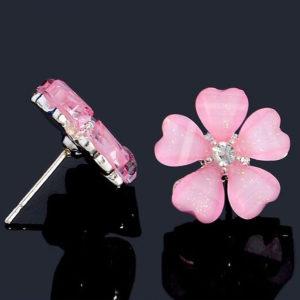 Sári virágos fülbevaló rózsaszín