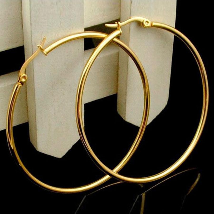 Zefira óriás nemesacél karika fülbevaló arany és ezüst fazonban