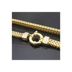 Agusztina egyedi nemesacél nyaklánc arany fazonban