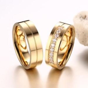 Ajsa prémium nemesacél gyűrű akár párban is