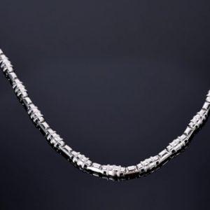 zeo-premium-nemesacel-nyaklanc-kulonleges-mintaval-ezust-fazonban-55-cm-7-mm-vastag